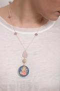 rose quartz goddess necklace